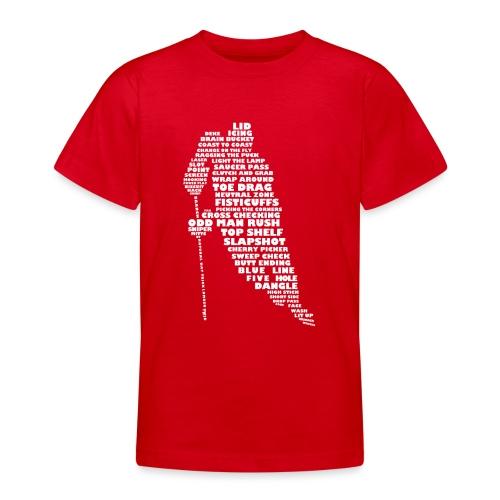 Language of Hockey (White) - Teenage T-Shirt