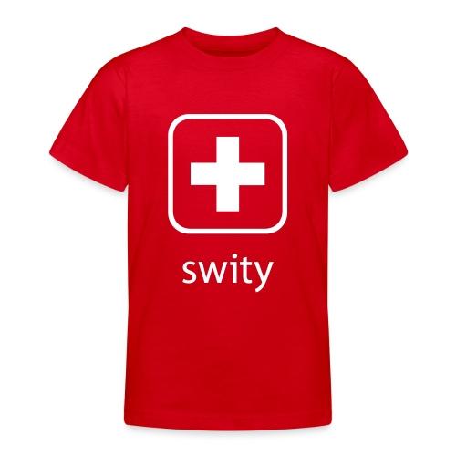 Schweizerkreuz-Kappe (swity) - Teenager T-Shirt