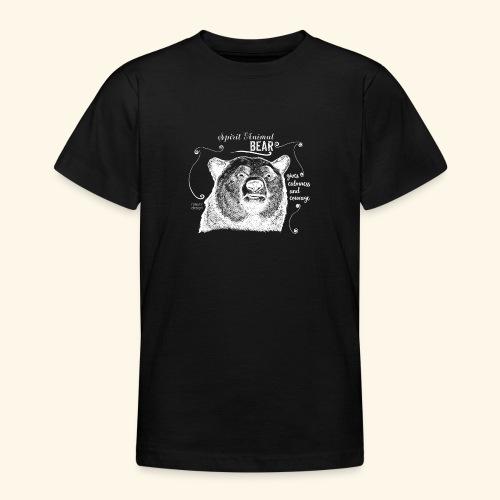 Spirit Animal Bär weiß - Teenager T-Shirt