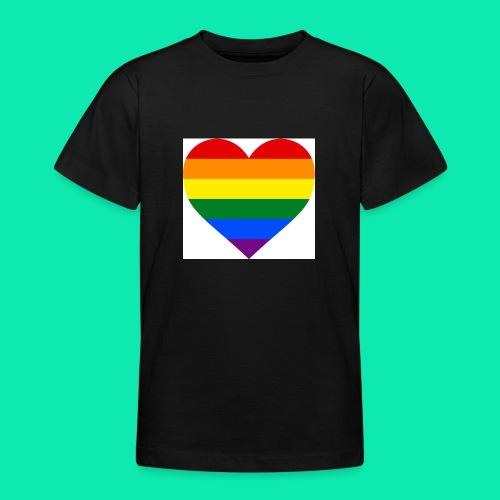 Pride- Heart - Teenage T-Shirt