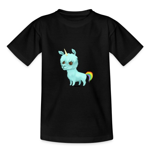Llamacorn - T-skjorte for tenåringer