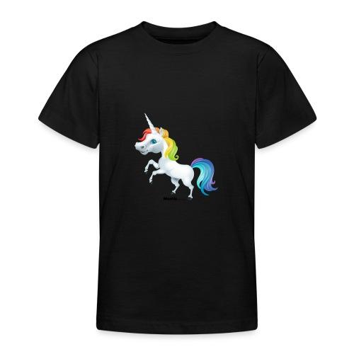 Regenbogen-Einhorn - Teenager T-Shirt