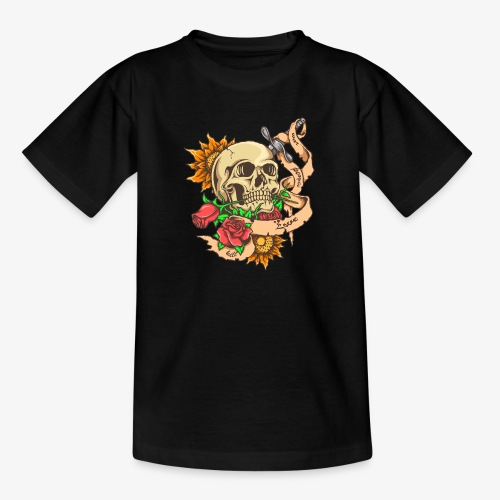 Schädel-Tattoo - Teenager T-Shirt