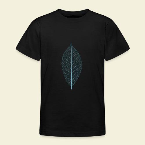 Feuille bleu Squelette - T-shirt Ado