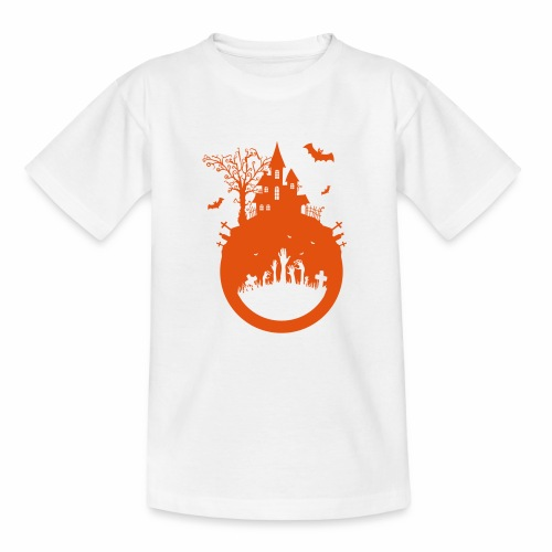 Halloween Design - Das Spukhaus - Teenager T-Shirt