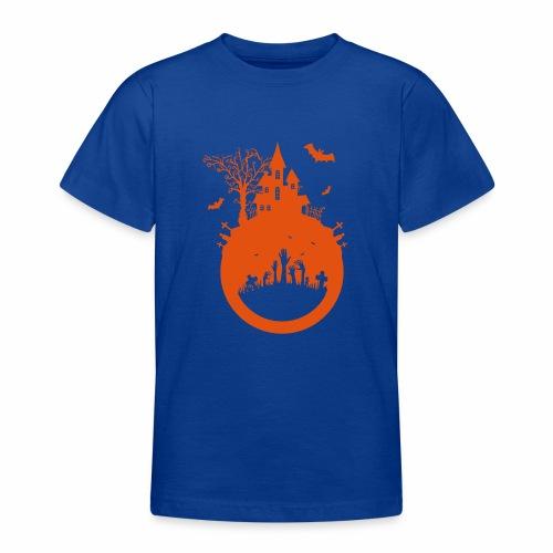 Halloween Design - Das Spukhaus - Teenager T-Shirt
