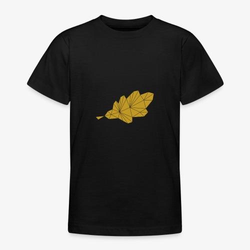 Eiche Blatt geometrisch - Teenager T-Shirt