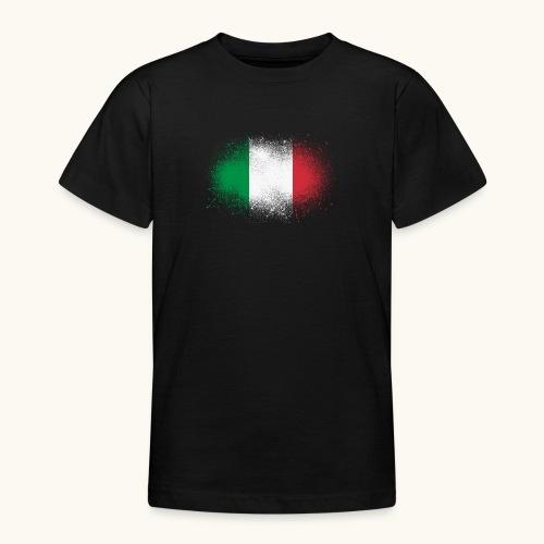 Italie cadeau drôle de drapeau italien grunge - T-shirt Ado