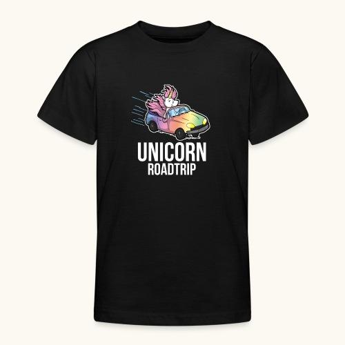 Roadtrip cadeau de voyage voiture licorne drôle - T-shirt Ado
