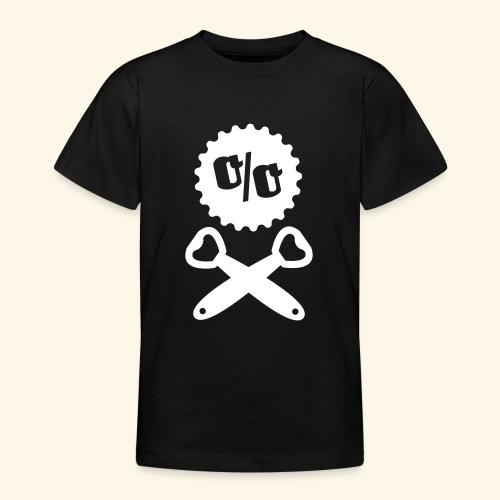Bier T Shirt Design Piratenflagge - Teenager T-Shirt