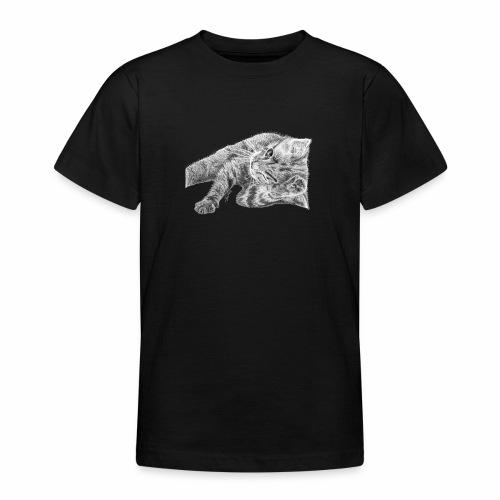 Small kitten in gray pencil - Teenage T-Shirt