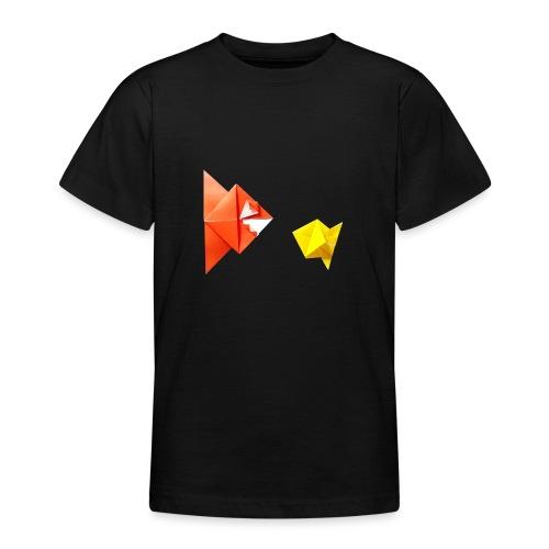 Origami Piranha and Fish - Fish - Pesce - Peixe - Teenage T-Shirt
