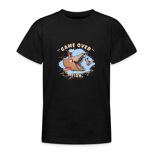 10-37 GAME OVER FISH - Peli on pelattu kala - Nuorten t-paita