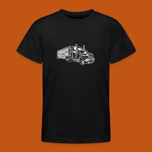 Truck / Lkw 01_weiß - Teenager T-Shirt