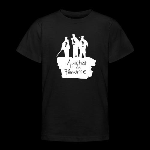 logo apache blanc - T-shirt Ado