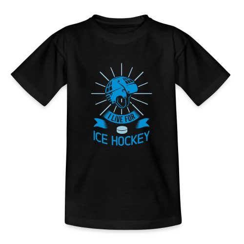 I Love For Ice Hockey - Teenage T-Shirt