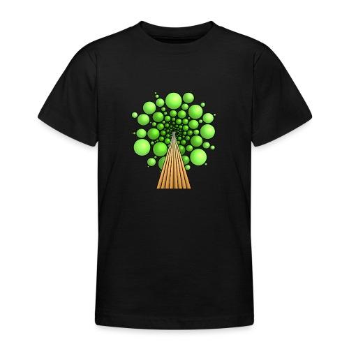 Kugel-Baum, 3d, hellgrün - Teenager T-Shirt