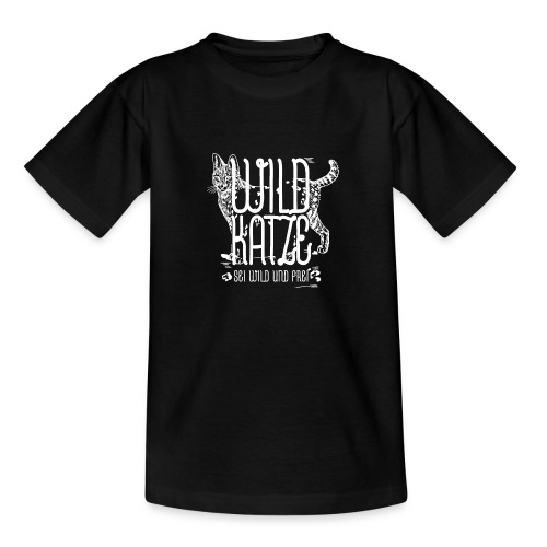 Wildkatze Weiss Geschenkidee - Teenager T-Shirt