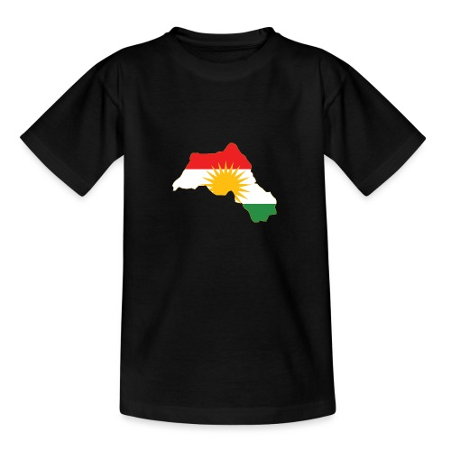 Kurdistan Flag Map - Teenager T-Shirt