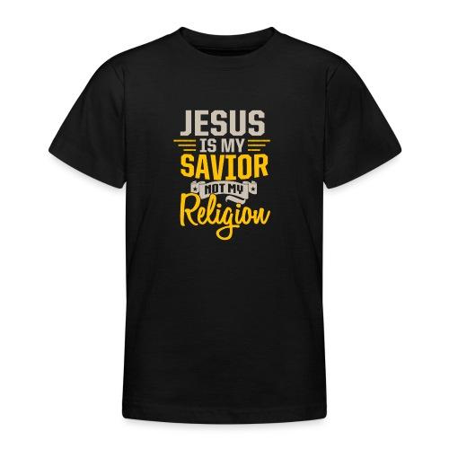 Jesus ist mein Erlöser - Teenager T-Shirt