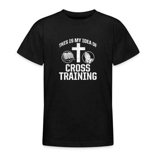 Sport mit Jesus und Bibel lesen Christen Spruch - Teenager T-Shirt