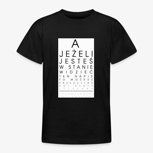 Badanie wzroku - Koszulka młodzieżowa