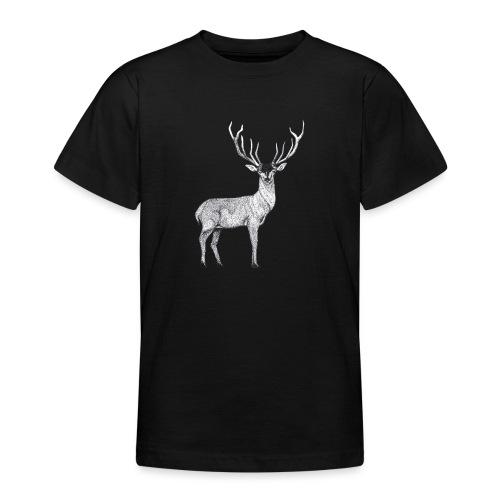 Hirsch Wald Tier Weihnachten Jagd Wild Geschenk - Teenager T-Shirt