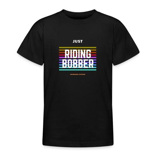 Riding Bobber - Chopper - Retro - Jackseven Custom - Teenager T-Shirt