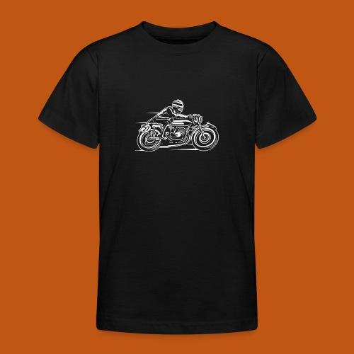 Cafe Racer Motorrad 03_weiß - Teenager T-Shirt