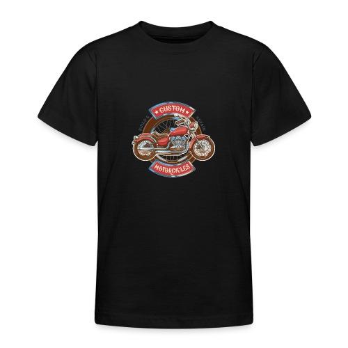 Custom Motorcycles - Camiseta adolescente