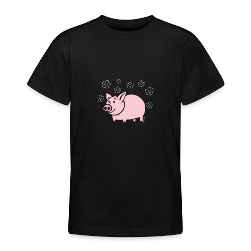 10-1B FUN PIGGY - HAUSKA POSSU Textiles and Gifts - Nuorten t-paita