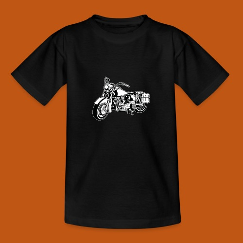 Chopper Motorrad 10_schwarz weiß - Teenager T-Shirt