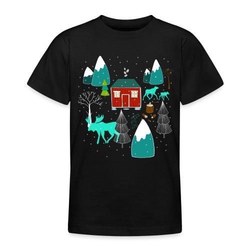 Weihnachten Elch I Geschenk Winterstimmung - Teenager T-Shirt