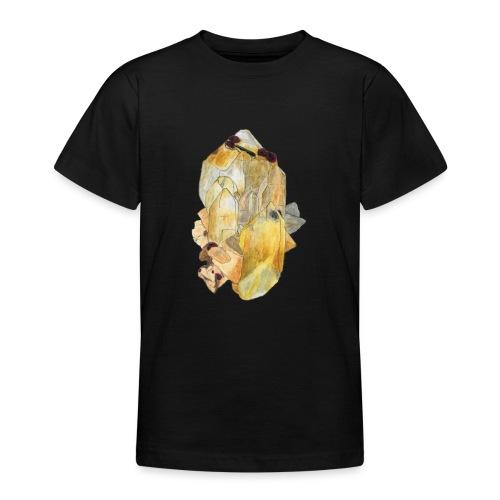 Bergkristall mit Granat - Teenager T-Shirt