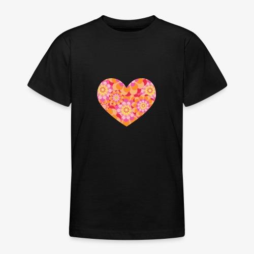 Floral Hearts - Teenage T-Shirt