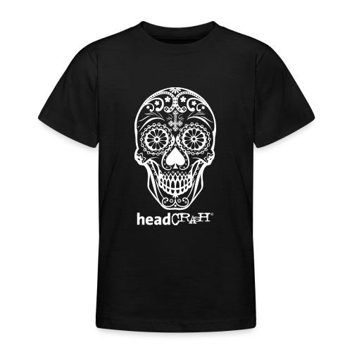 Skull & Logo white - Teenager T-Shirt