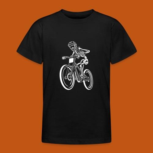 BMX / Mountain Biker 04_weiß - Teenager T-Shirt