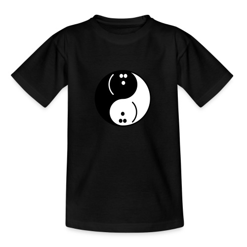 Bowling Yin-Yang - Teenage T-Shirt