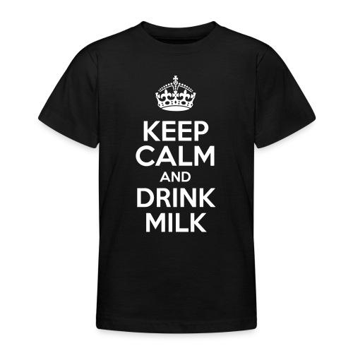 Keep Calm and Drink Milk - T-shirt Ado