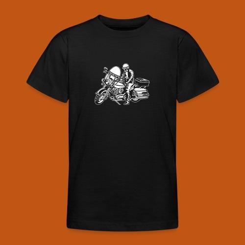Chopper / Motorrad 05_weiß - Teenager T-Shirt