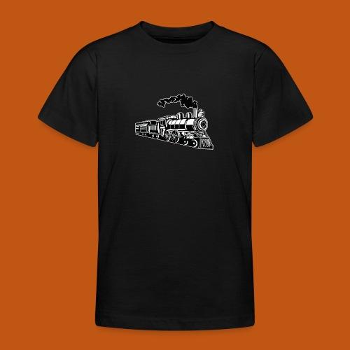 Lokomotive / Locomotive 02_schwarz weiß - Teenager T-Shirt