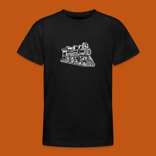 Lokomotive / Locomotive 01_weiß - Teenager T-Shirt