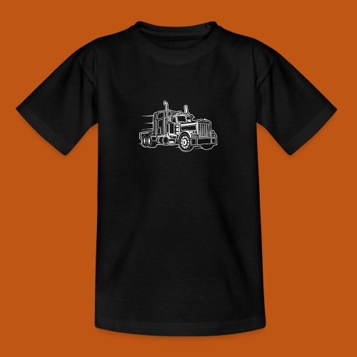 Truck / Lkw 03_weiß - Teenager T-Shirt