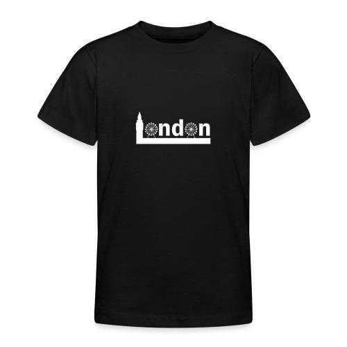 London Souvenir - Text London Sehenswürdigkeiten - Teenager T-Shirt