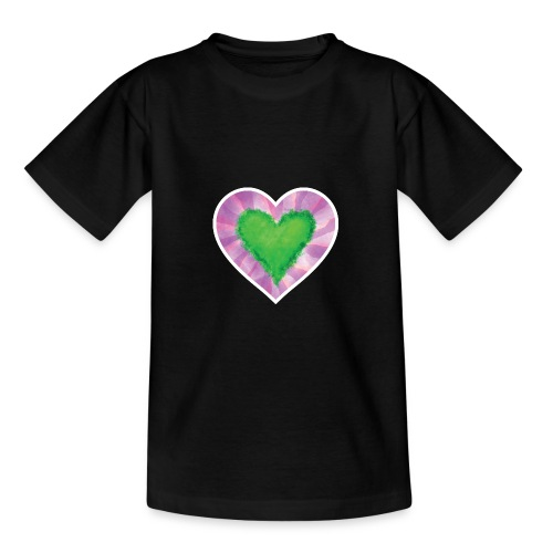 Green Heart - Teenage T-Shirt