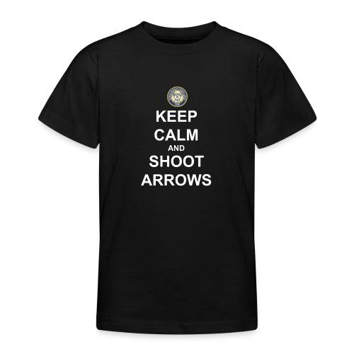 Keep Calm and Shoot Arrows - Vit text - T-shirt tonåring