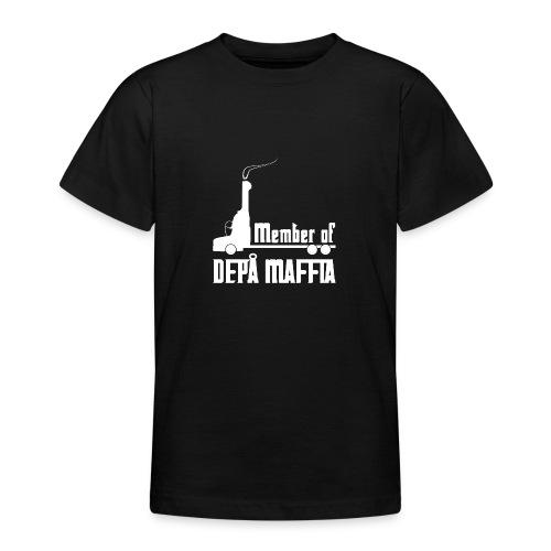 Depå Maffia vitt tryck - T-shirt tonåring