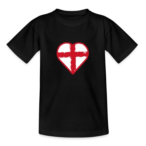 Heart St George England flag - Teenage T-Shirt