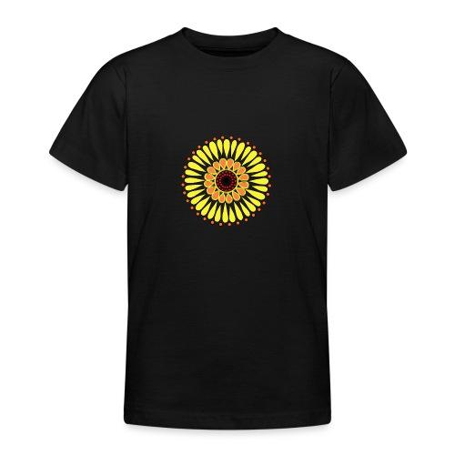 Yellow Sunflower Mandala - Teenage T-Shirt