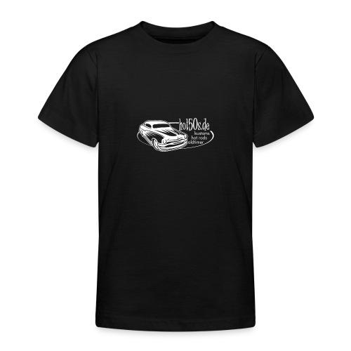 hot50s Logo weiss - Teenager T-Shirt